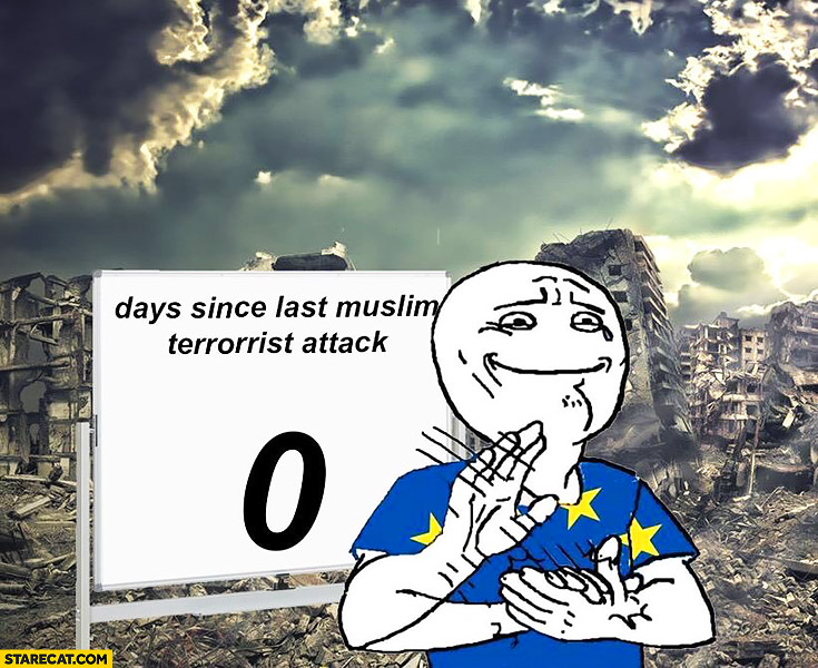 0 days since last muslim terrorist attack