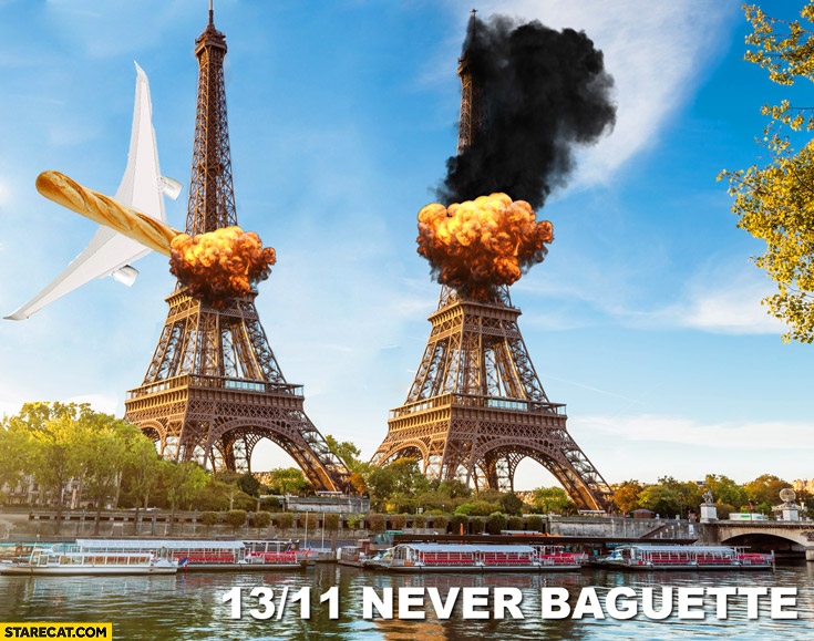 13.11 Paris terrorist attacks never baguette