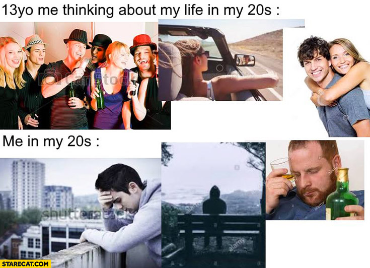 13yo me thinking about my life in my 20s vs actually me in my 20s