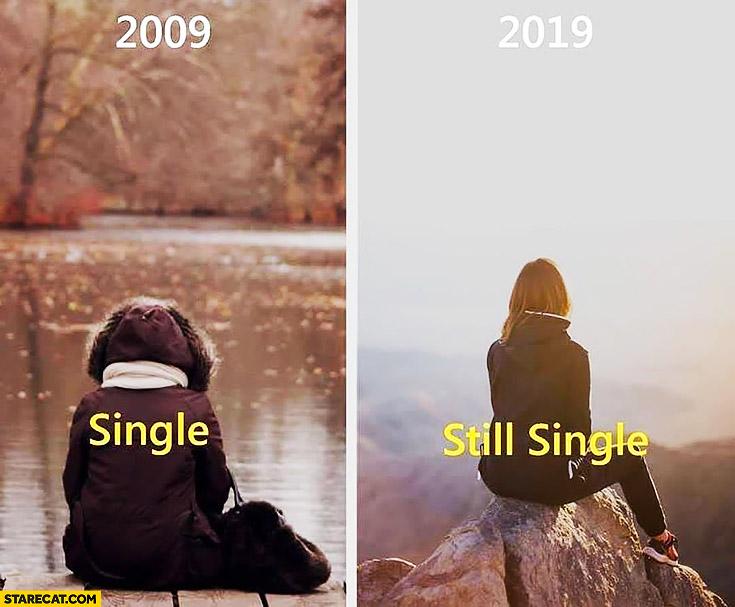 2009 single 2019 still single