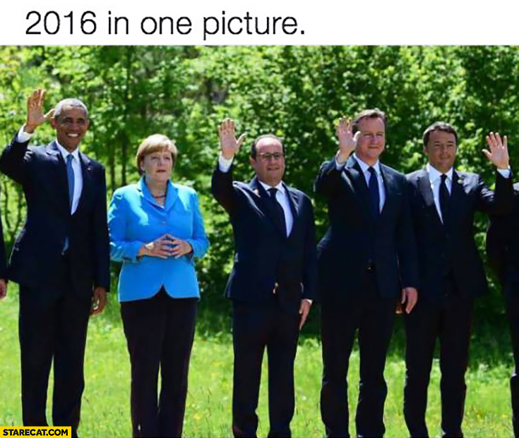 2016 in one picture Obama Merkel Hollande