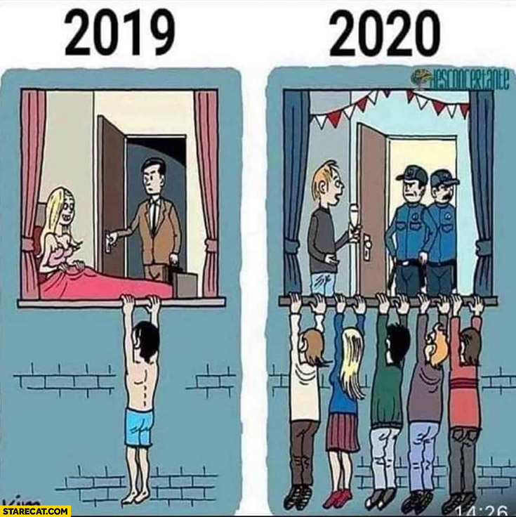 2019 vs 2020 unwanted guests lover too many people