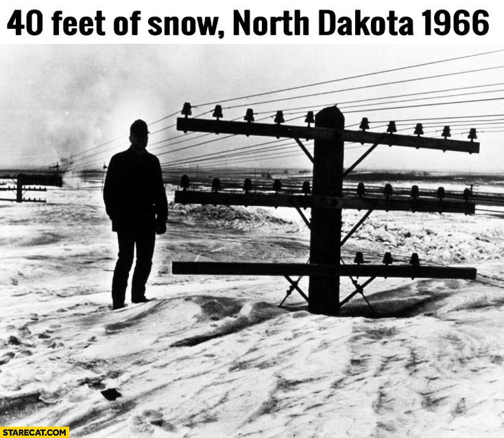 40 feet of snow North Dakota 1966
