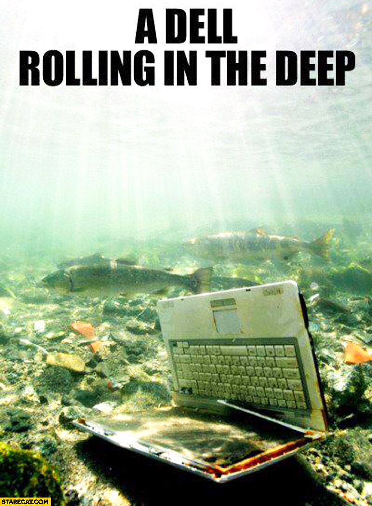 A dell rolling in the deep laptop notebook Adele