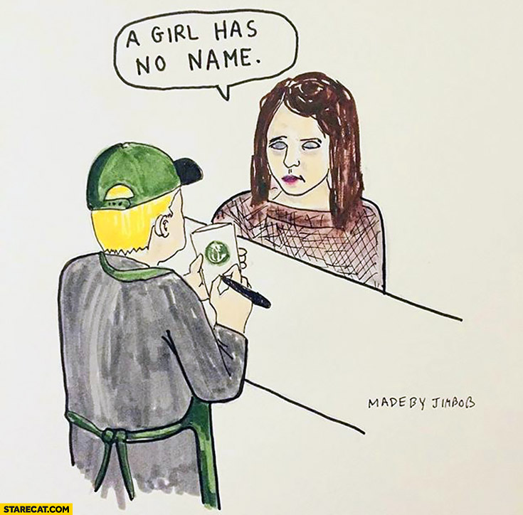 A girl has no name Arya Stark at Starbucks Game of Thrones