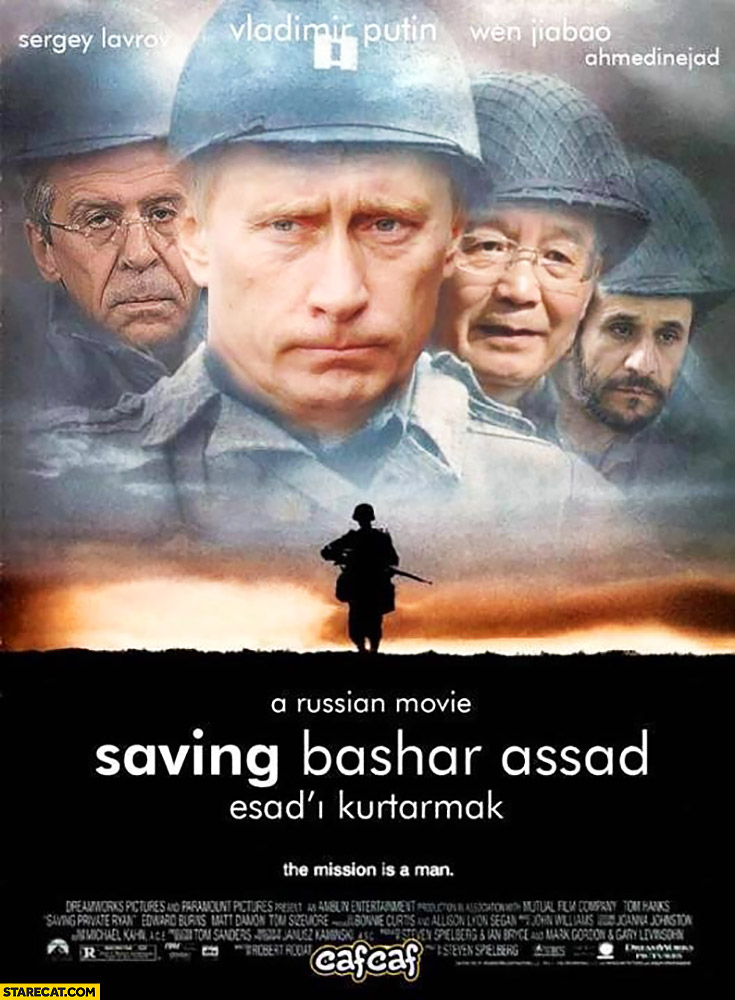 A russian movie: Saving Bashar Assad. Putin movie poster