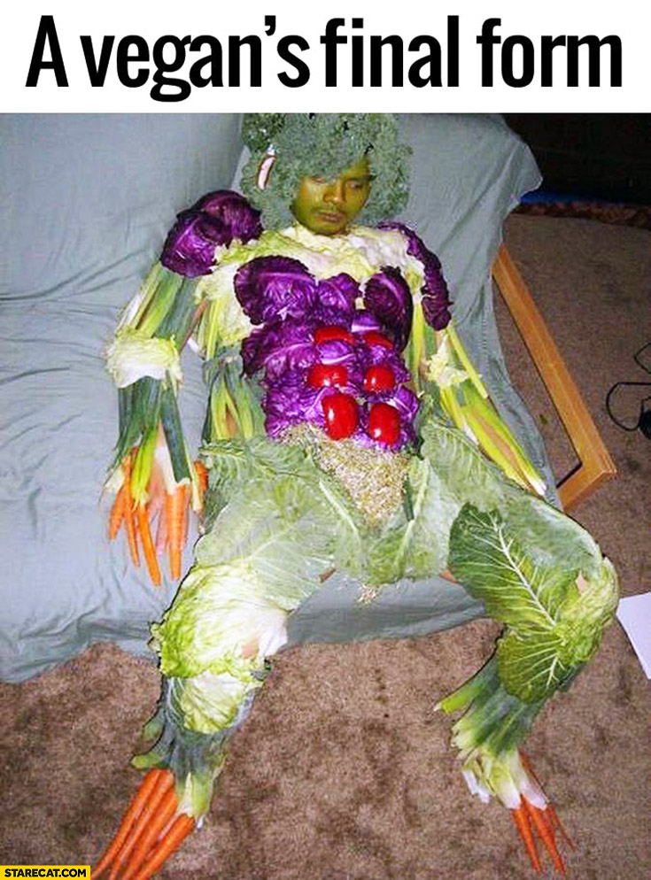 A vegan's final form cosplay vegetables