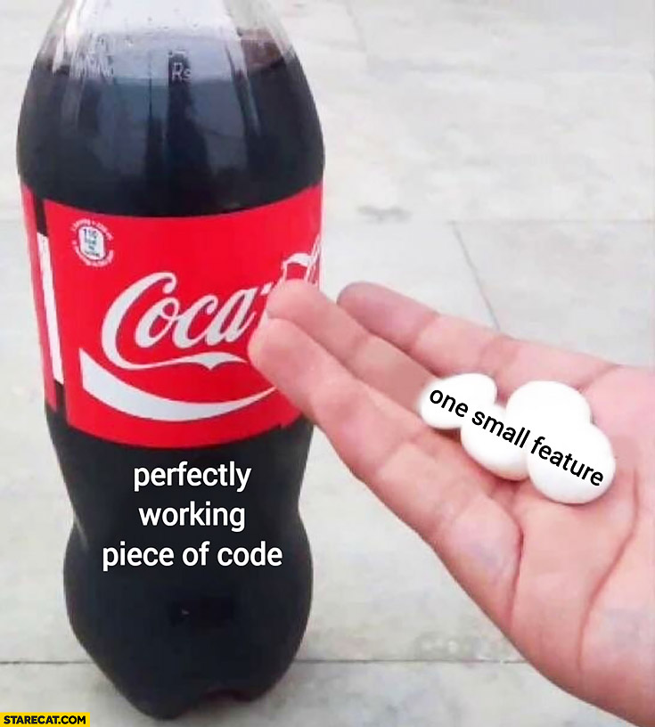 Adding Mentos to Coca-Cola Coke perfectly working piece of code one small feature