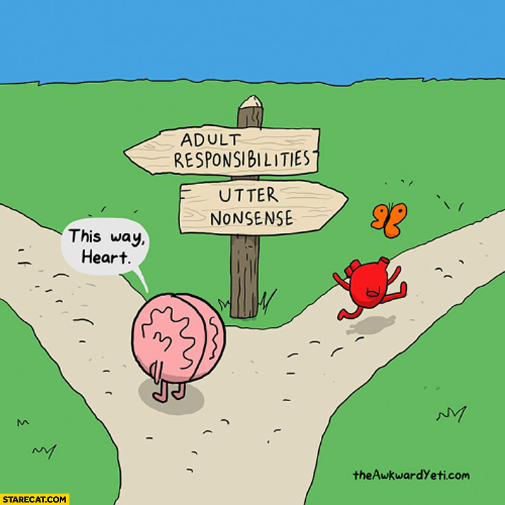 Adult responsibilities utter nonsense this way heart