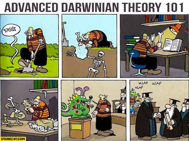 Advanced darwinian theory 101 reconstruction fail comic