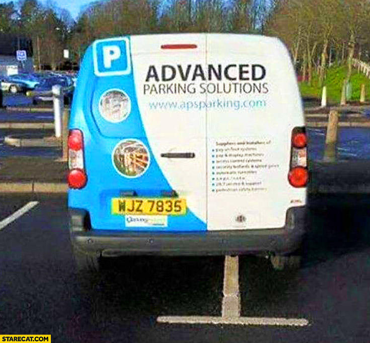 Advanced Parking Solutions car fail parked wrong