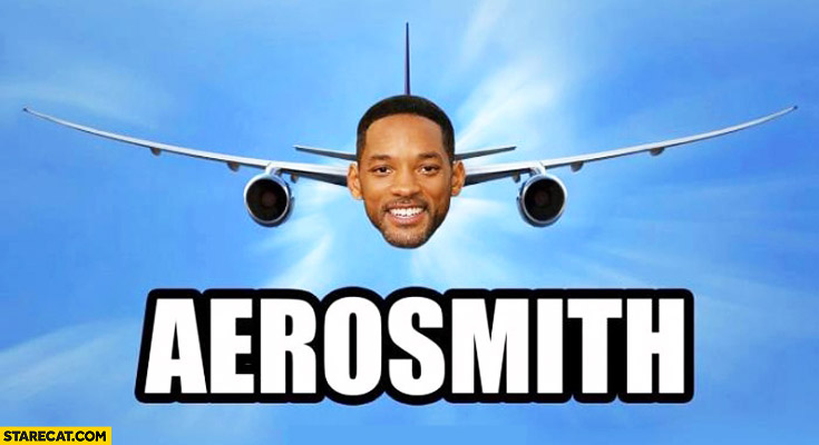 Aerosmith Will Smith head aeroplane