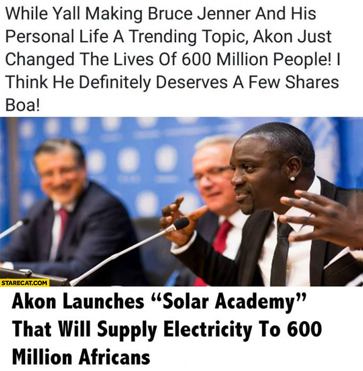 Akon launches solar academy that will supply electricity to 600 million Africans