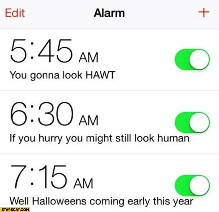 Alarm Halloween coming early this year