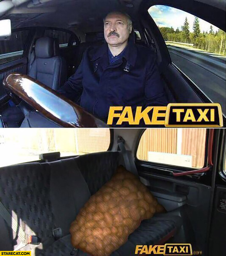 Alexander Lukashenko Fake Taxi bag of potatoes