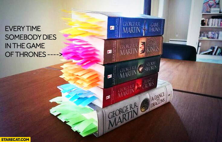 All the deaths in Game of Thrones