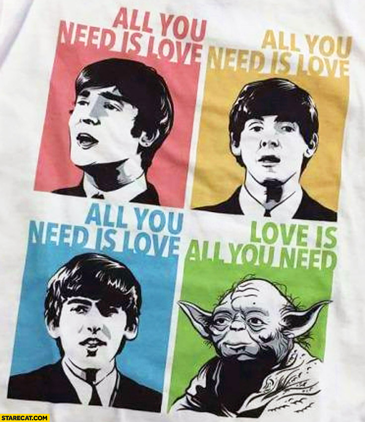 All you need is love Yoda love is all you need