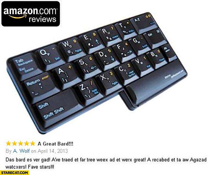 Amazon reviews matias half keyboard a great bard