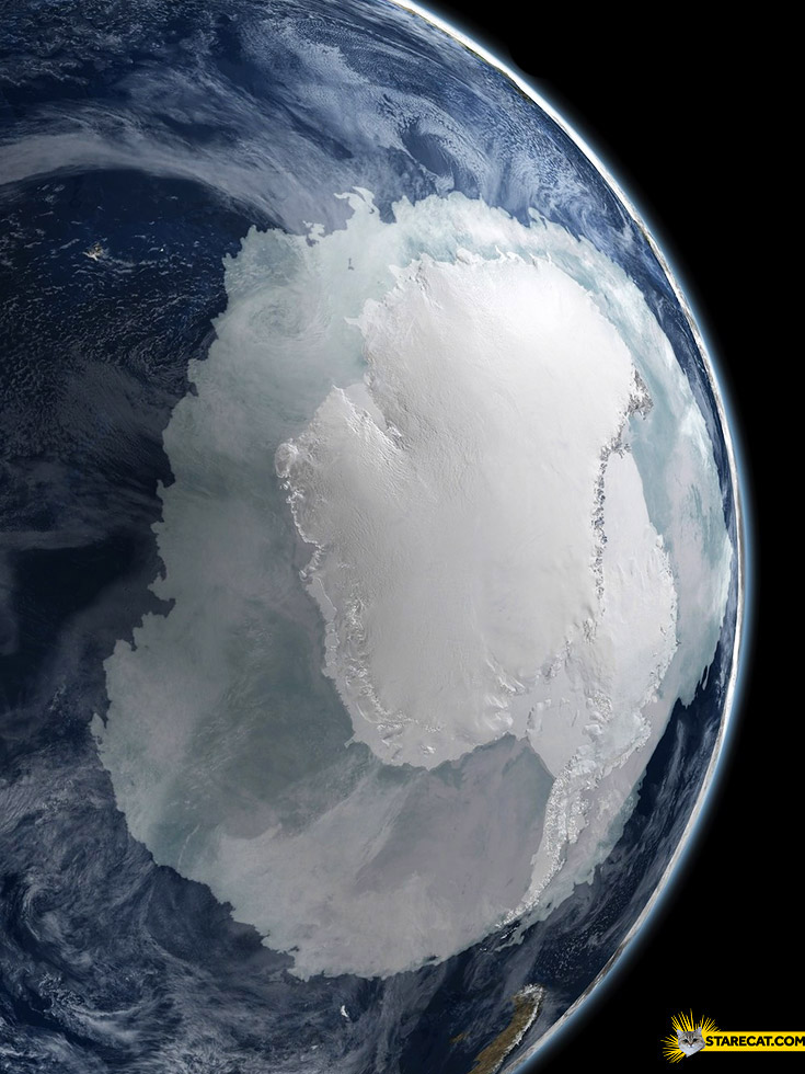 Antarctica seen from space