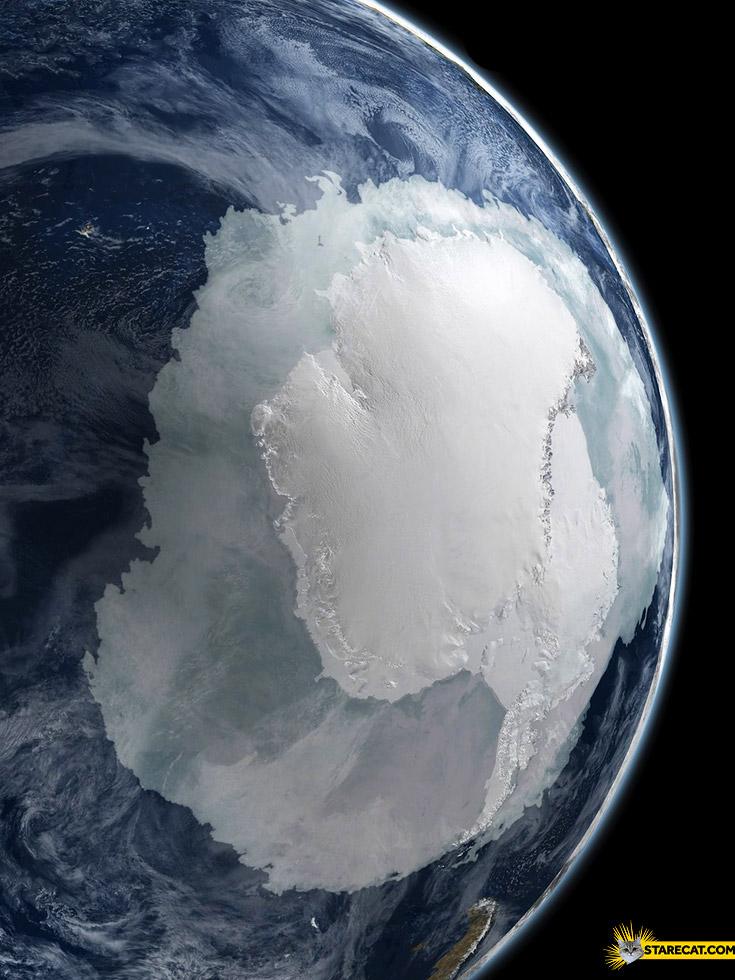 Antarctica seen from space