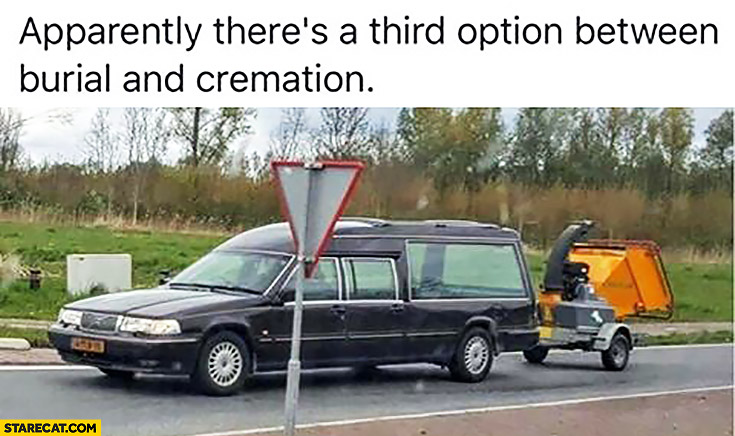 Apparently there's a third option between burial and cremation confetti