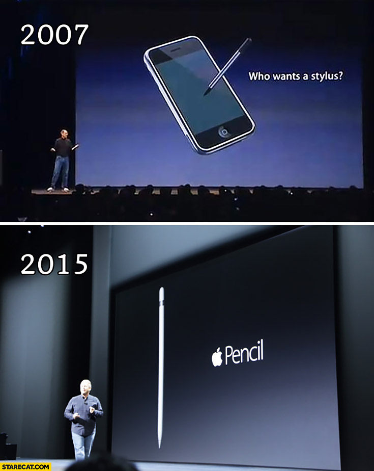 Apple 2007 who wants a stylus 2015 introducing pencil