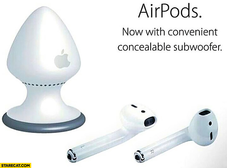 Apple Airpods now with convenient concealable subwoofer