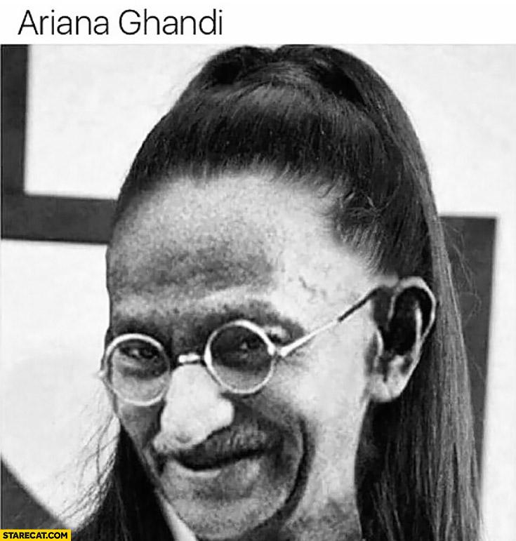 Ariana Ghandi Mahatma Ghandi photoshopped