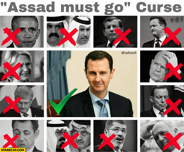 Assad must go curse politicians gone