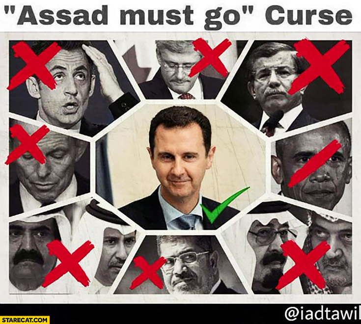 Assad must go curse politicians list