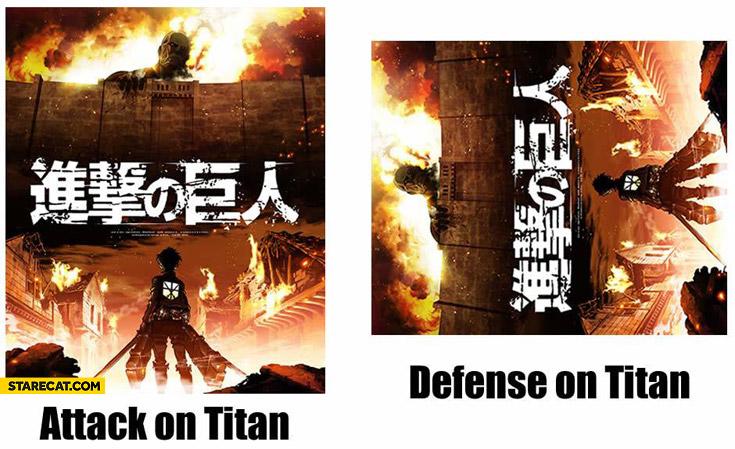 Attack on Titan defense on Titan