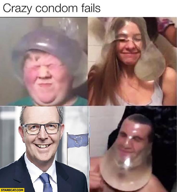 Axel Voss crazy condom fails meme