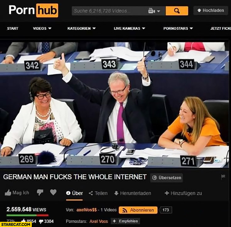 Axel Voss german man fcks the whole internet video on adult site