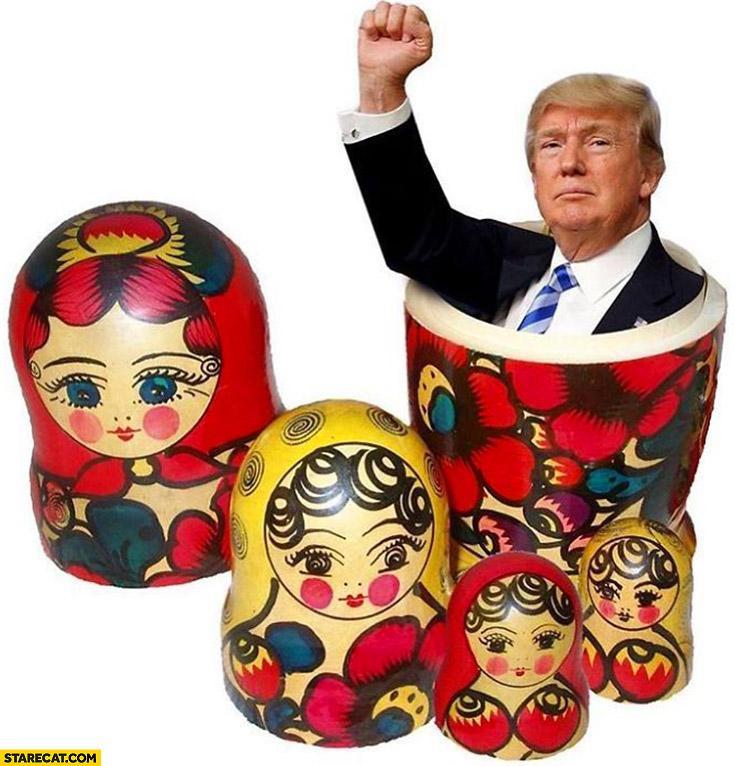 Babushka Trump inside photoshopped
