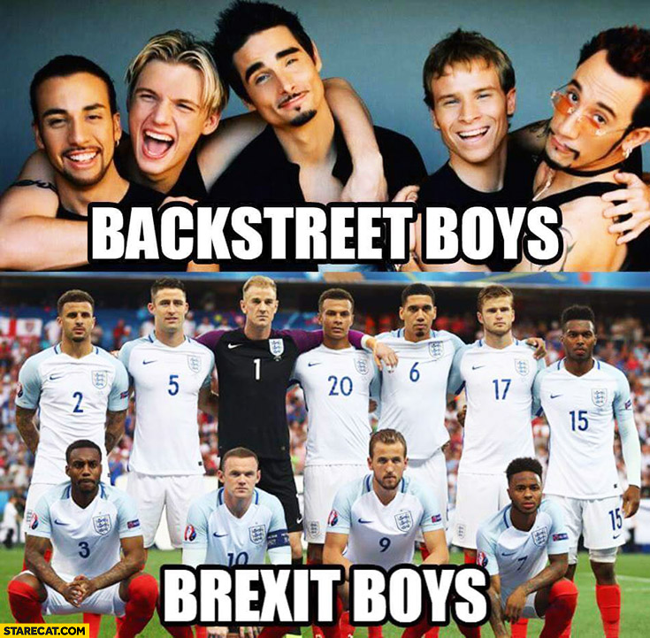 Backstreet Boys, Brexit Boys England football national team