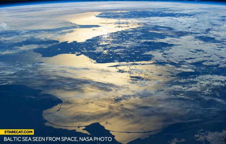 Baltic Sea seen from space NASA photo