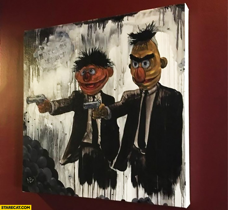 Bart Ernie Sesame Street Pulp Fiction