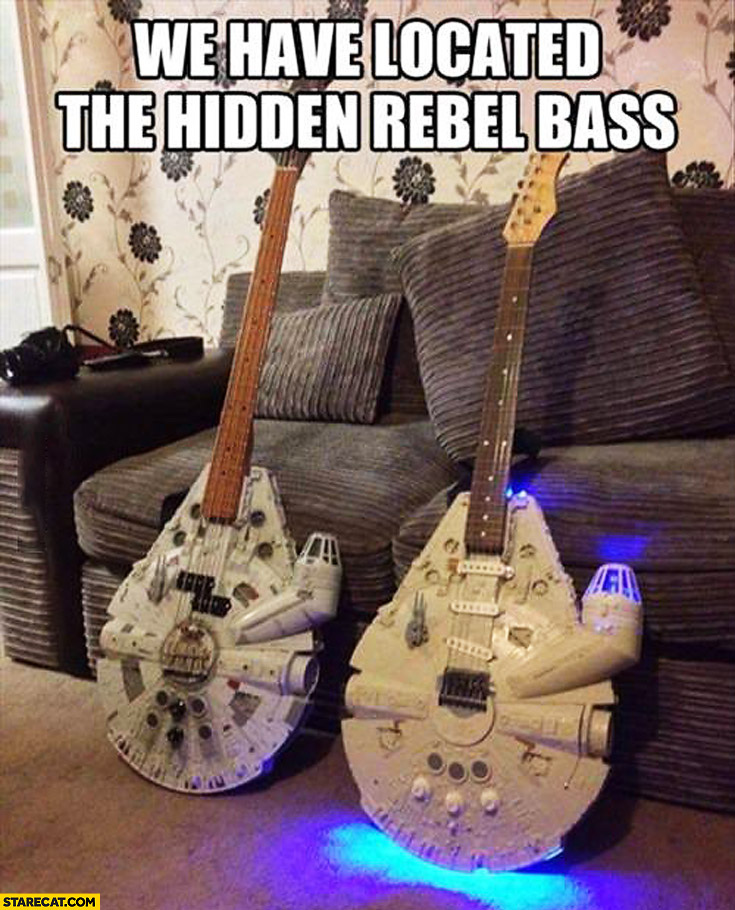 Bass guitar Millenium Falcon we have located the hidden rebel bass