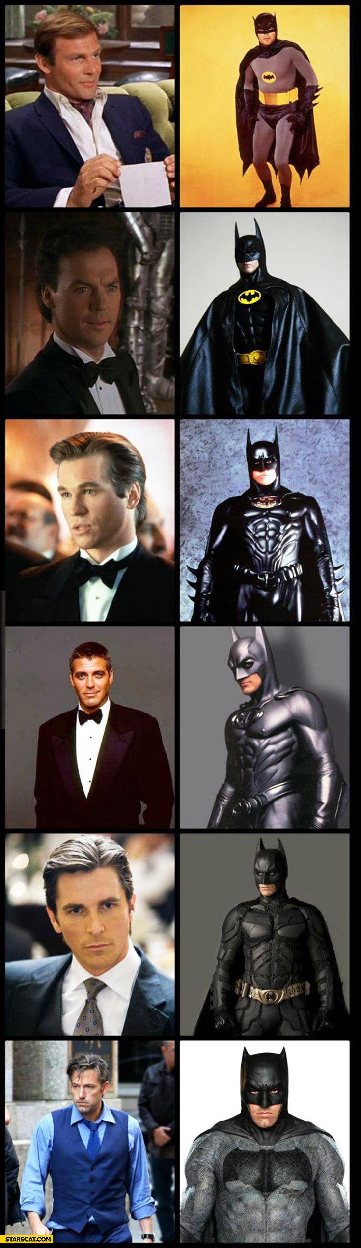 Batman actors history