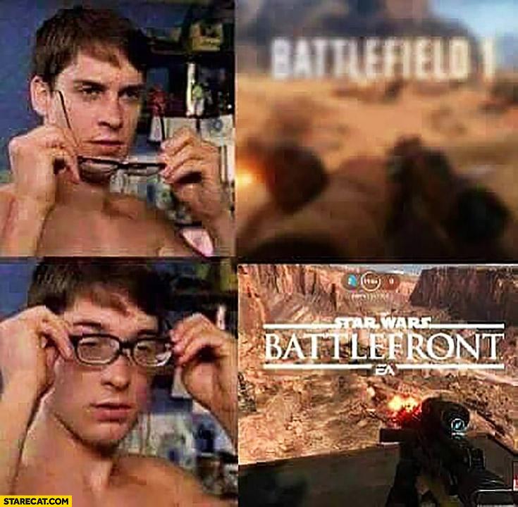 Battlefield 1 without glasses becomes Star Wars Battlefront