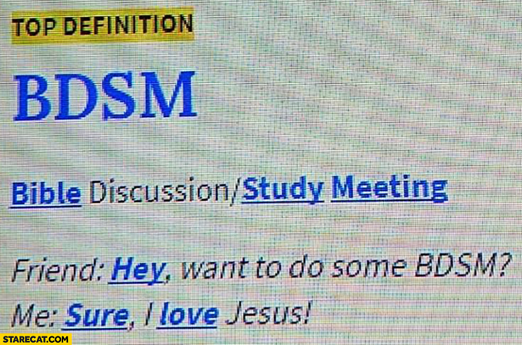 BDSM meaning bible discussion study meeting urban dictionary