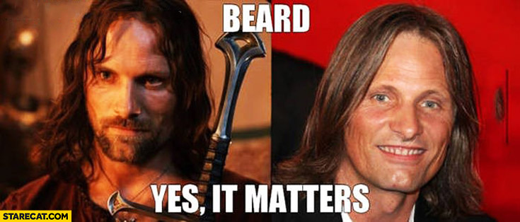Beard yes it matters Viggo Mortensen