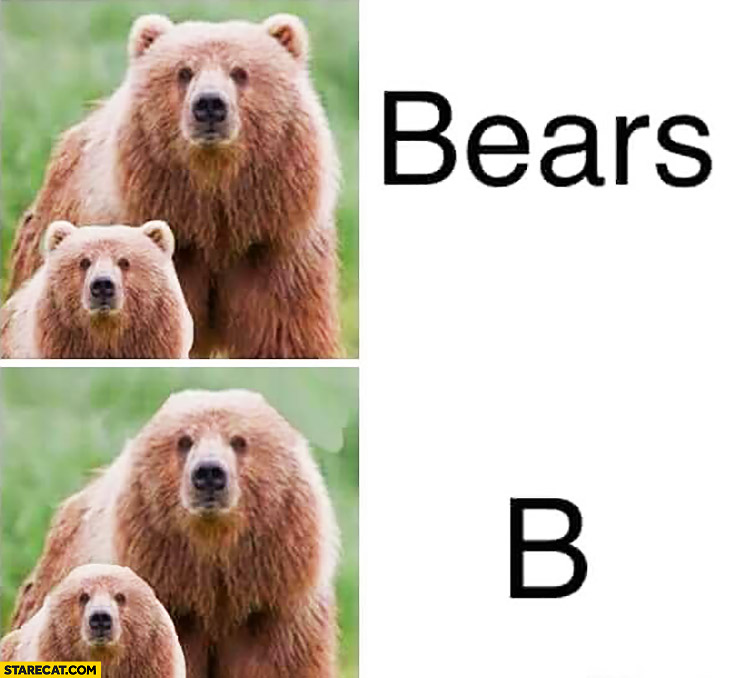 Bears with ears, b bears without ears