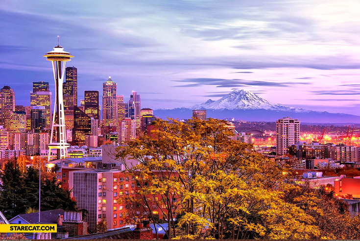 Beautiful Seattle landscape