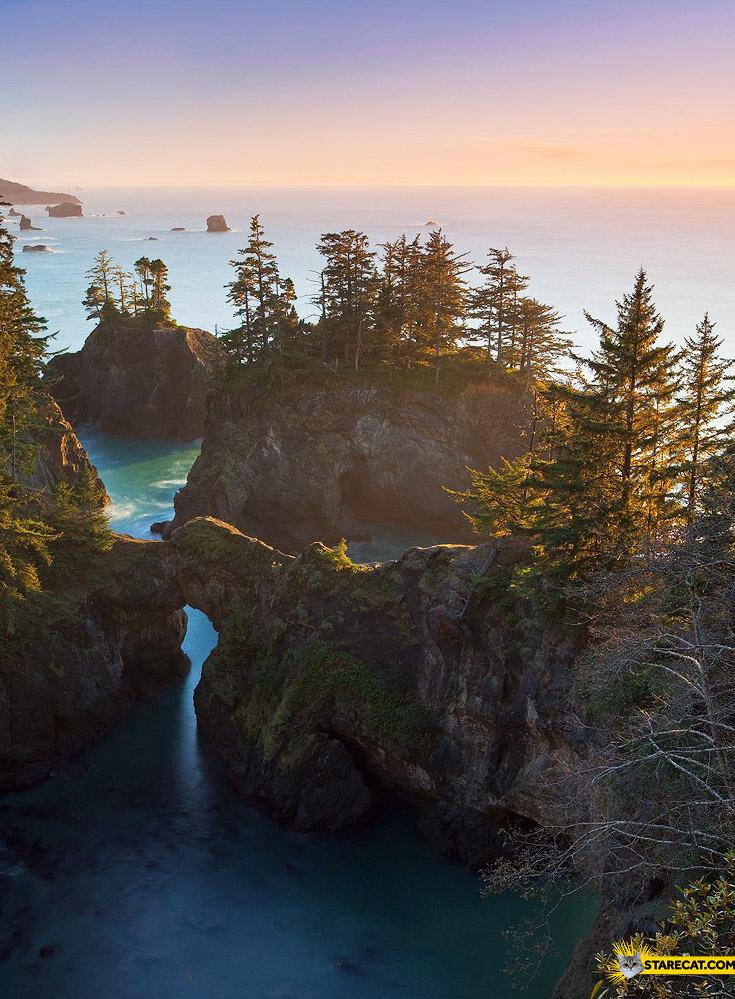 Beautiful shore Oregon USA