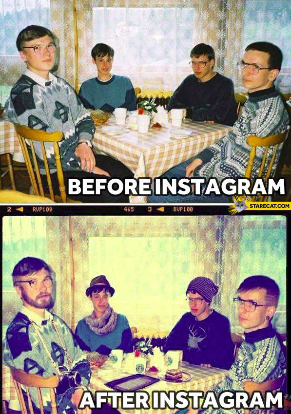 Before instagram after instagram nerds geeks