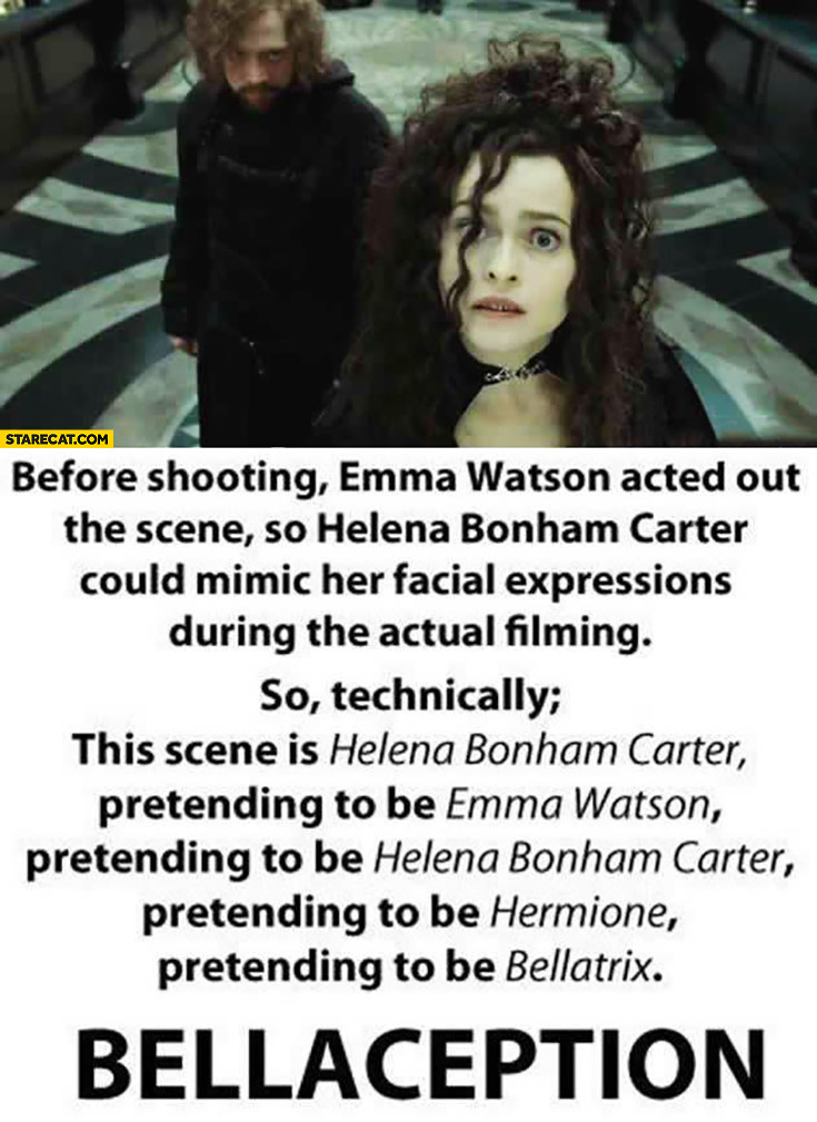 Bellaception Helena Bonham Carter Emma Watson