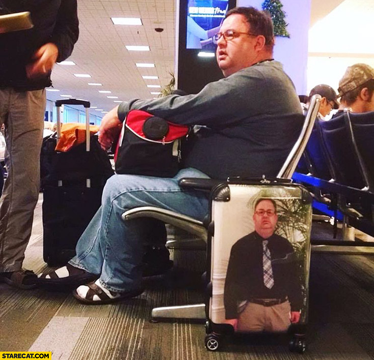 Best way to never lose luggage selfie printed on it