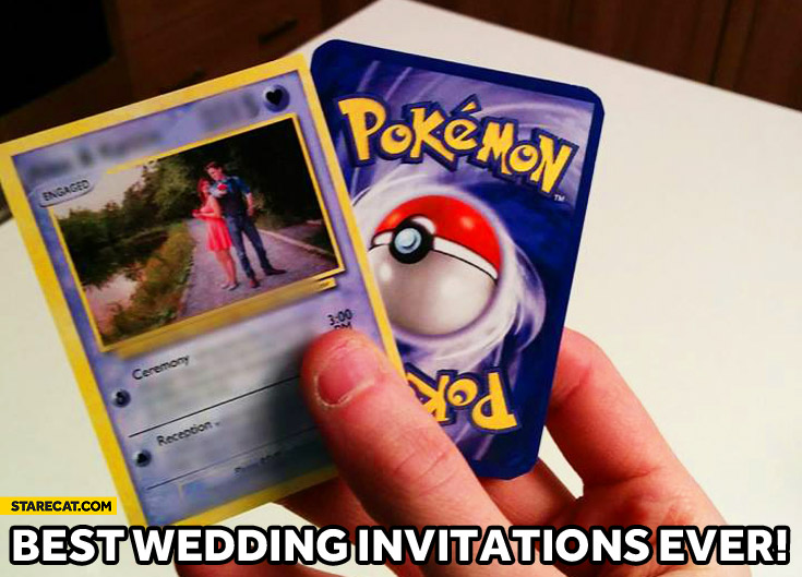 Best wedding invitations ever Pokemon