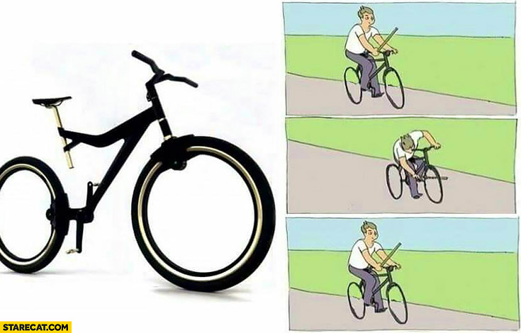 bicycle wheels without spokes memes with stick fail stick in bicycle spokes meme 4k wallpapers